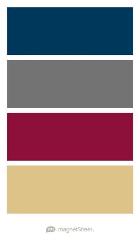 create wedding color palette navy charcoal burgundy and gold wedding color palette