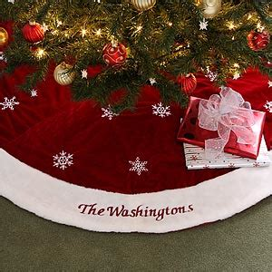when did xmas skirts appear velvet personalized tree skirt