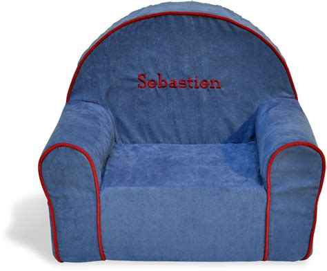 Personalized Toddler Chairs personalized toddler chair blue microsuede