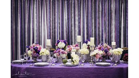 purple wedding decorations youtube
