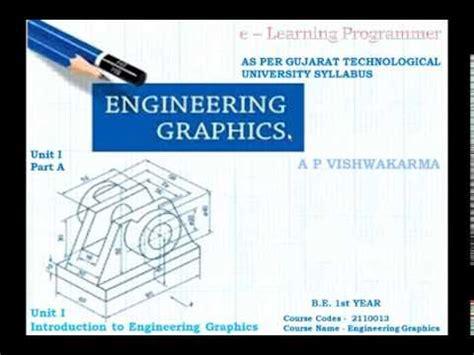 learn engineering graphics   gtu syllabus  st year youtube