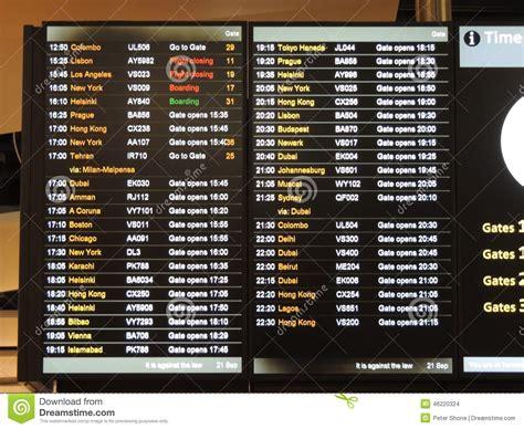flight arrivals and departures heathrow international airport london heathrow airport departure board stock photo image 46220324