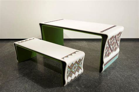corian furniture embroidered corian furniture in ukrainian traditions