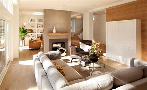 Houzz Modern Living Rooms by Virginia B Interior Design Space Plan Semi Open Plans
