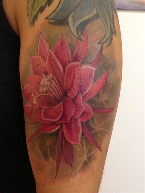 cactus flower tattoo cactus flower color tattoos