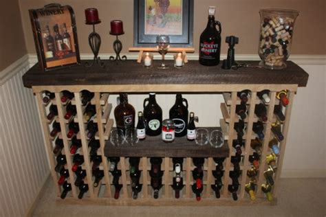 Wine Rack Made From Pallets by Awesome Wine Rack Made From Recycled Pallet Recycled Things