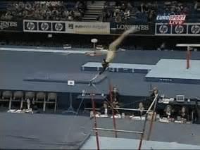 triple layout gymnastics rarely done elements triple twisting back layout off bars
