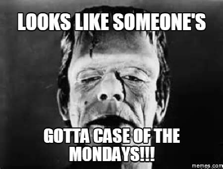 Case Of The Mondays Meme - looks like someone s gotta case of the mondays memes com