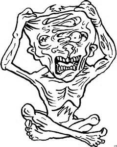 zombie zerreisst sich ausmalbild amp malvorlage phantasie