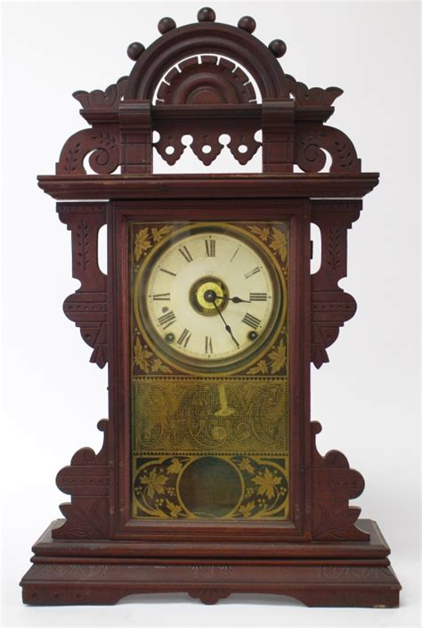 antique seth walnut kitchen clock