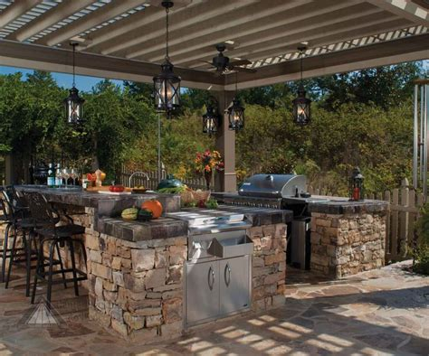 backyard kitchen plans amazing outdoor kitchens part 3 pergolas kitchens and