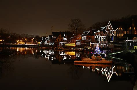 bills boat house boathouse row lights photograph by bill cannon