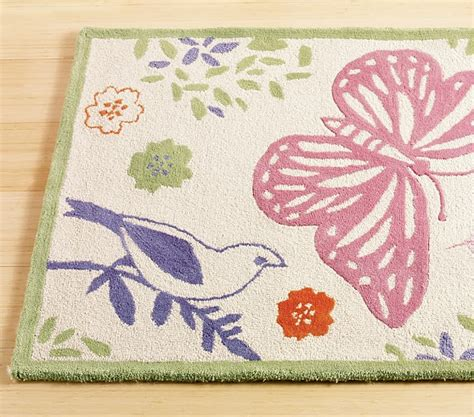 Organic Butterfly Rug Swatch Pottery Barn Kids Pottery Barn Butterfly Rug