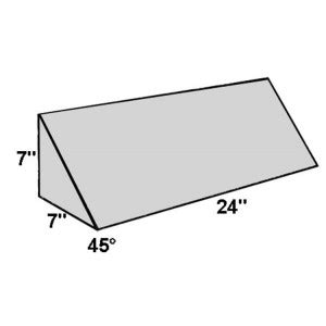 45 Degree Wedge Pillow by Covered Foam Wedge 45 Degree Angle Radiation Products