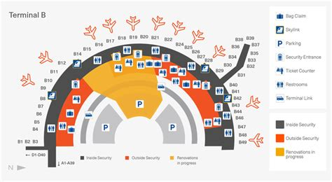 dfw airport map terminal b map 10 2016