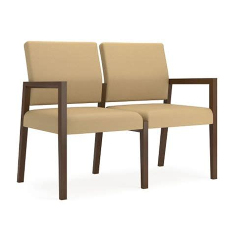 lesro office furniture two seat guest chair in fabric by lesro