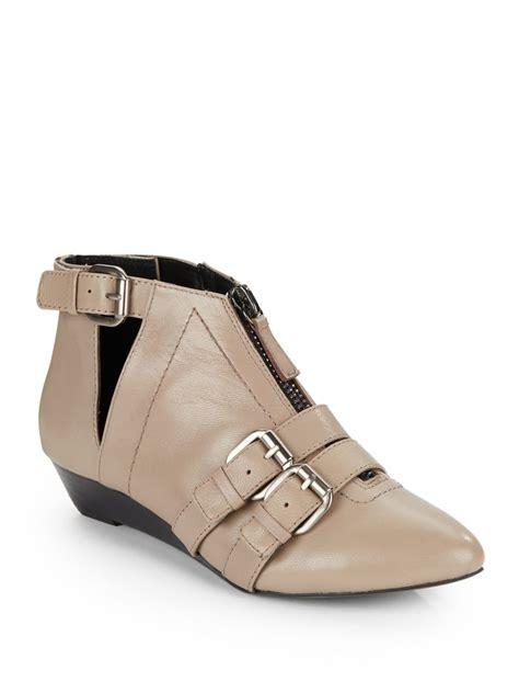 kelsi dagger shoes kelsi dagger babilonia buckle ankle boots in beige