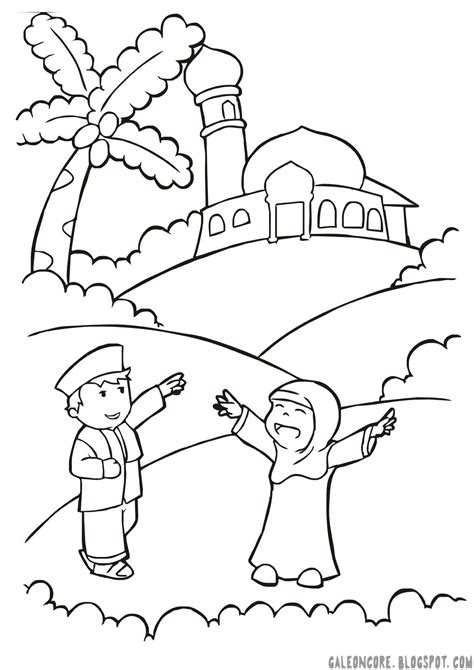 kumpulan gambar masjid kartun hitam putih terbaru sobponsel
