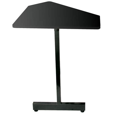 on stage stands wsc7500b 45 degree angled corner desk extension black steel finish for use with
