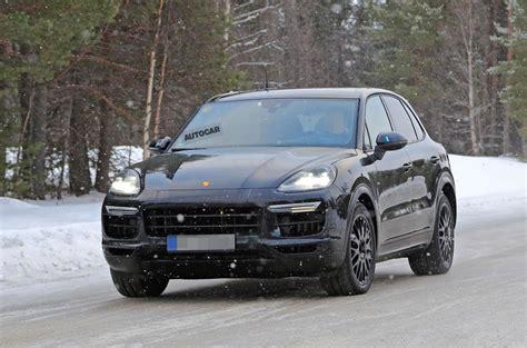 Porsche Cayenne Platform by 2018 Porsche Cayenne New Pictures Autocar