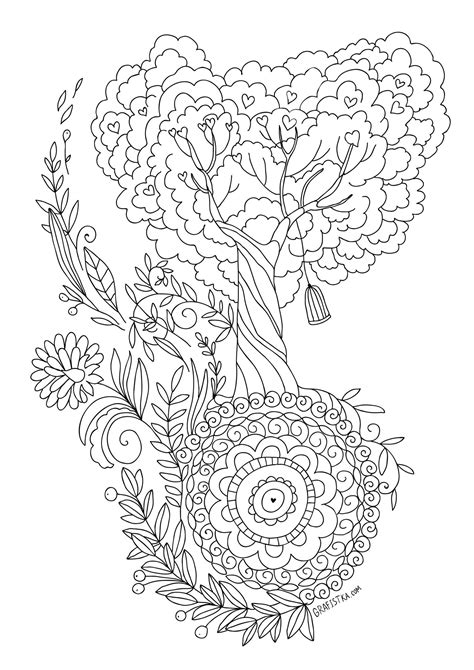 tree of life adult coloring coloring pages