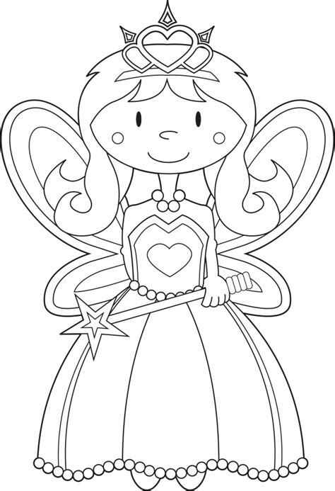 coloring pages of fairy princesses fairy princess coloring pages printable