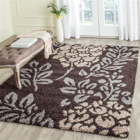 Brown And Gray Area Rug Safavieh Florida Shag Brown Gray 4 Ft X 6 Ft Area Rug Sg456 2880 4 The Home Depot