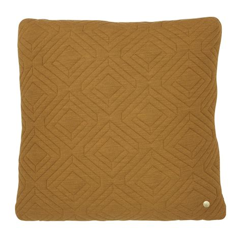 Quilted Chair Cushions by Buy Ferm Living Quilted Cushion 45cmx45cm Curry Amara