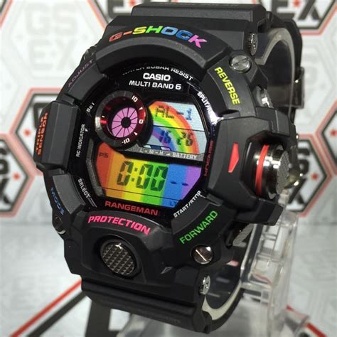 G Shock Gw 9400 Black casio g shock gw 9400 1dr custom rainbow black rangeman on