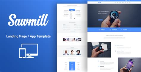 Sawmill Responsive Landing Page Template By Lumberjacks Themeforest Landing Page Sle Templates