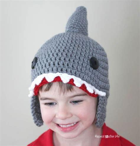 baby shark repeat repeat crafter me crochet shark hat pattern crochet