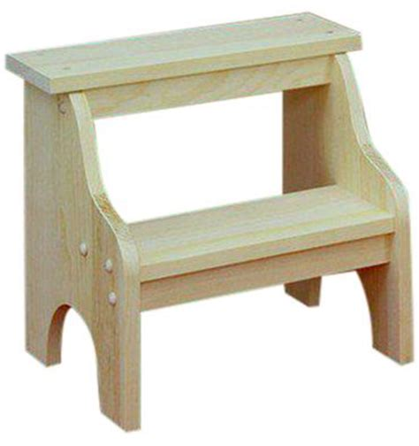 3 Inch Step Stool by 15 Inch Step Stool Burr S Unfinished Furniture Bryan Tx
