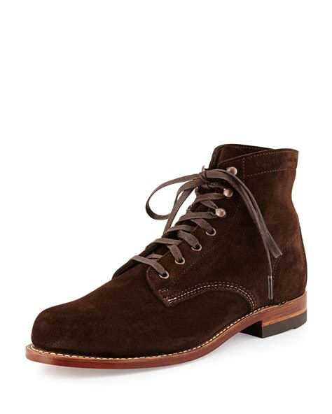 wolverine 1000 mile boot wolverine 1000 mile suede boot in brown for lyst