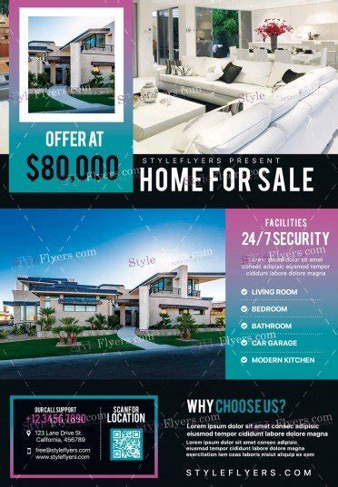 photoshop template real estate flyer real estate psd flyer template 19605 styleflyers
