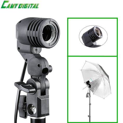 continuous light studio flash accessories lh 01 ac light e27 socket with umbrella holder