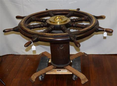 19th 20th spoke ships wheel coffee table