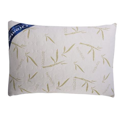 Carrying A Pillow by Giantex King Size Bamboo Memory Foam Hypoallergenic Pillow