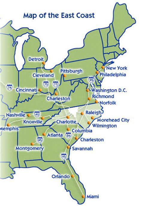 eastern us map with mileage earthquake on us east coast