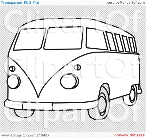 volkswagen drawing free coloring pages of vw cer van template