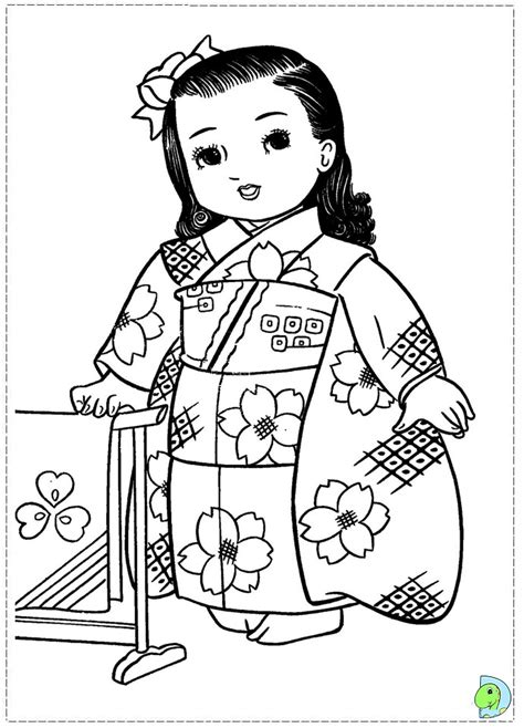 coloring pages of japanese dolls icolor quot little kids around the world quot on pinterest