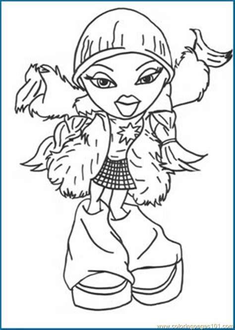 bratz coloring pages pdf coloring pages bratz001 cartoons gt bratz free