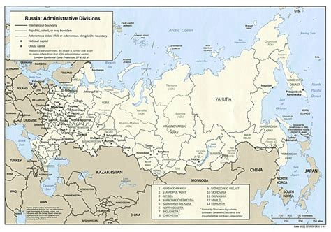 russia map  major cities