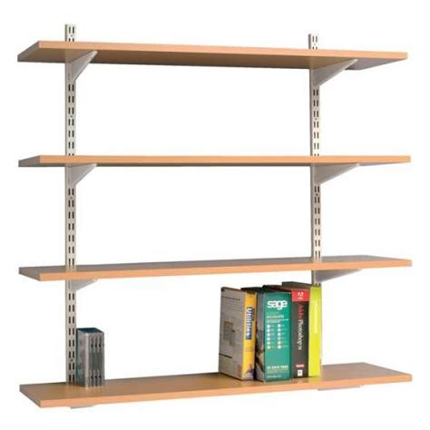 Best Shelf by Trexus Top Shelf Shelving Unit System 4 Shelves Beech Wall Mo