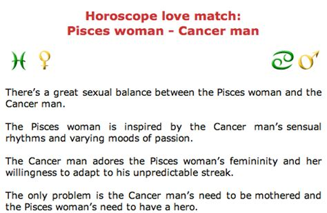 cancer pisces man cancer woman