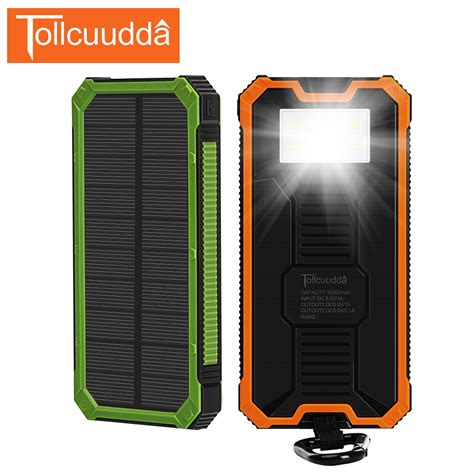 Powerbank 1 Cell 9800 Mah Indikator Led tollcuudda solar power bank 10000mah led light poverbank