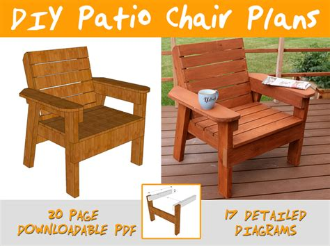 diy patio chair plans  tutorial step  step