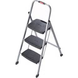 rubbermaid 3 step steel frame stool with grip and