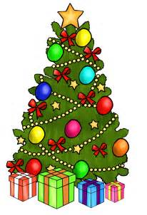 Free christmas tree with presents clip art