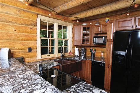 log cabin ideas kitchen rustic with rustic granite counter