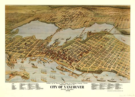 map of vancouver past tense panoramic map of vancouver 1898 a nifty